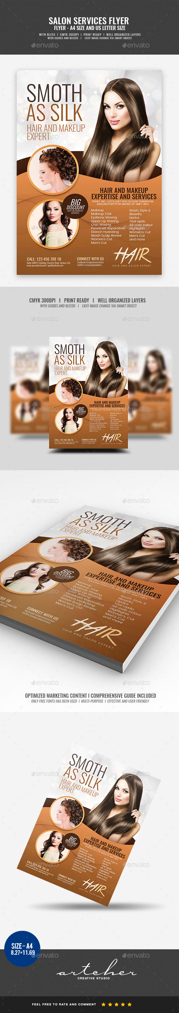 Hair and Make-up Services Flyer - Miscellaneous Events