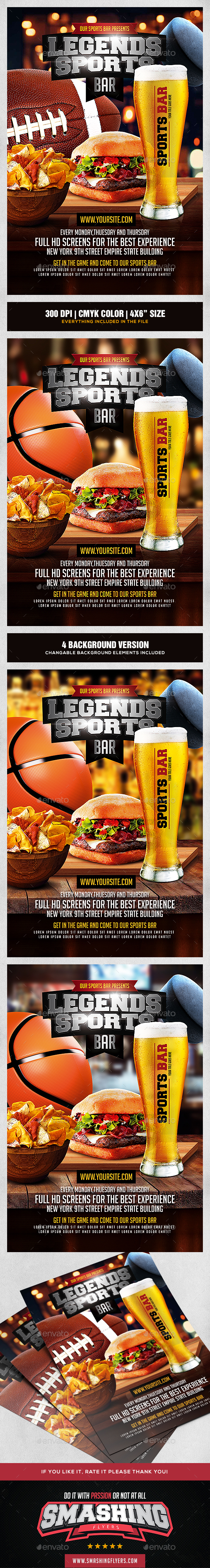 GraphicRiver Sports Bar Flyer Template 20439454