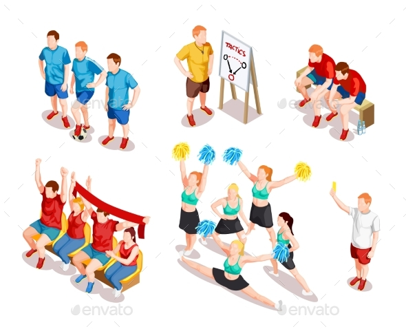 GraphicRiver Sports Performer Characters Set 20439467