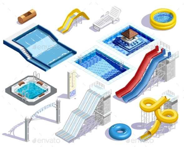 GraphicRiver Aqua Park Elements Set 20439488