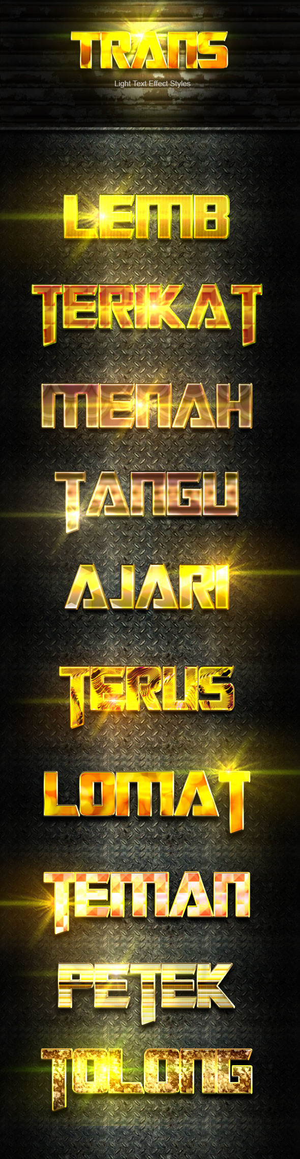 Trans Gold Text Effect V04 - Text Effects Actions