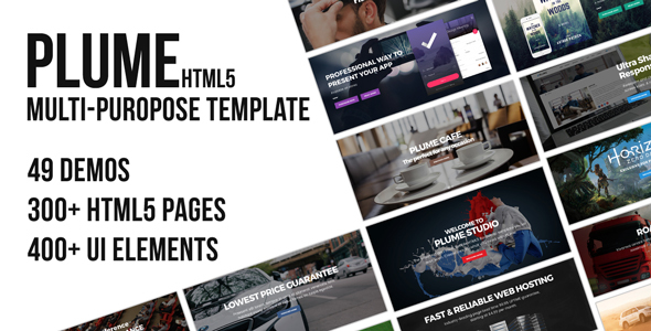 PLUME HTML5 Multi-Purpose Template