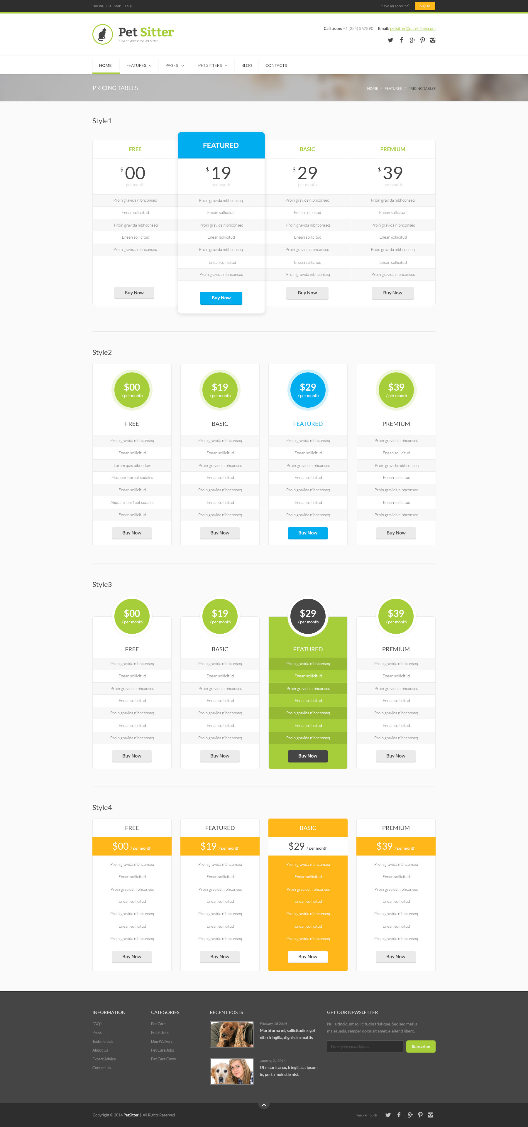 pet sitter job board responsive wordpress theme