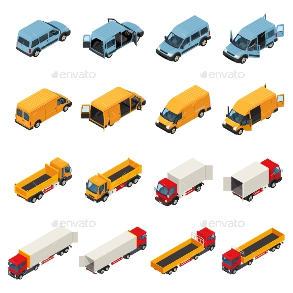 Freight Transportation Vehicles Collection - Man-made Objects Objects