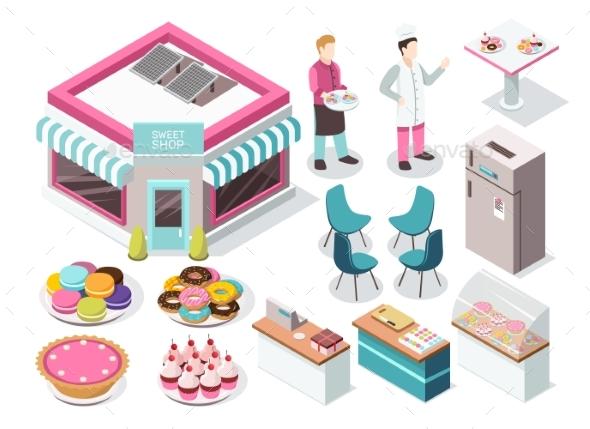 Sweet Shop Isometric Set - Food Objects