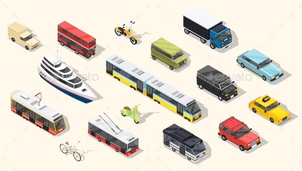 Public Transport Vehicles Collection - Man-made Objects Objects