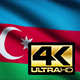 Azerbaijan Flag 4K