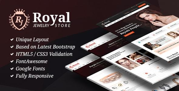 Royal Jewelry - Jeweler Shop & Store HTML Site Template - Shopping Retail