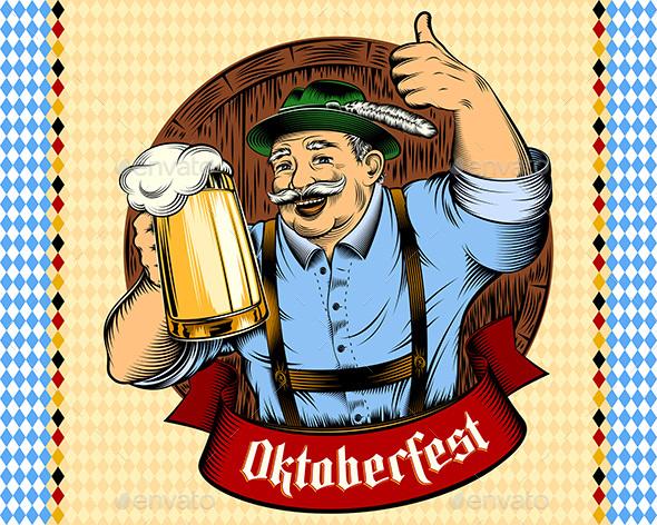 Oktoberfest Man - Miscellaneous Seasons/Holidays
