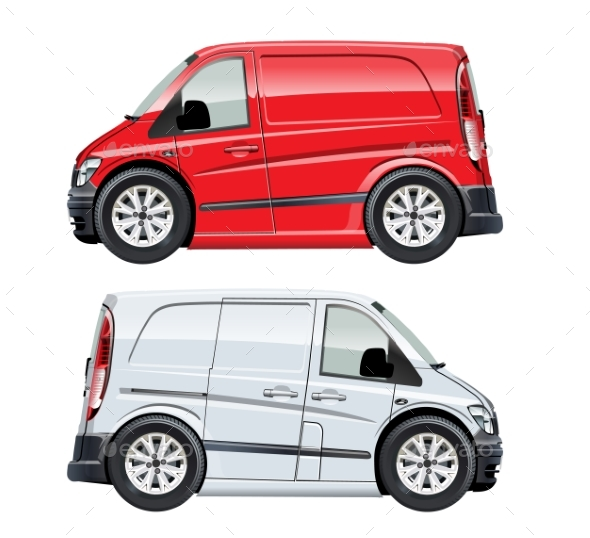 GraphicRiver Vector Cartoon Van 20439578