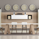 white and brown modern boardroom - PhotoDune Item for Sale