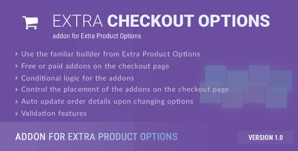 CodeCanyon Extra Checkout Options addon for Extra Product Options 20439659