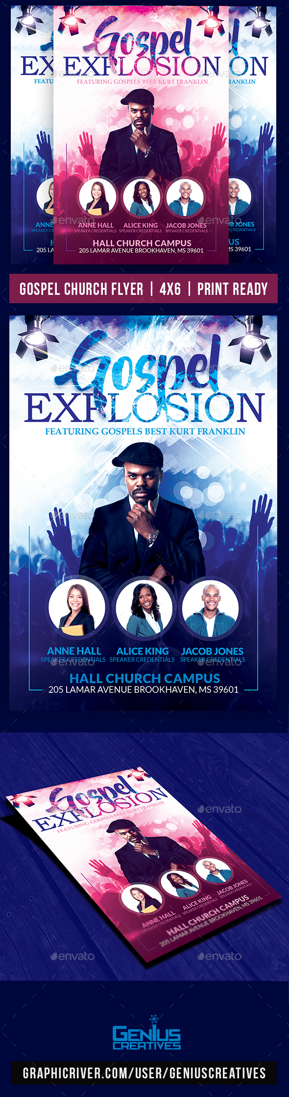 GraphicRiver Gospel Explosion Church Flyer 20439728