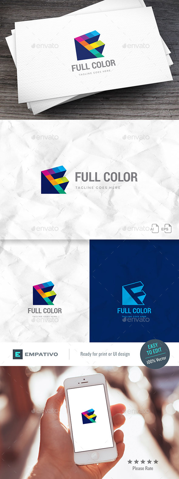 Full Color Logo Template - Letters Logo Templates