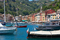 Portofino typical beautiful harbor village with colorful houses in Italy - PhotoDune Item for Sale