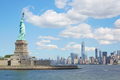 Statue of Liberty island and New York city skyline - PhotoDune Item for Sale