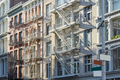 New York, cast iron architecture buildings in Soho - PhotoDune Item for Sale