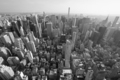 New York City Manhattan skyline, black and white aerial view - PhotoDune Item for Sale