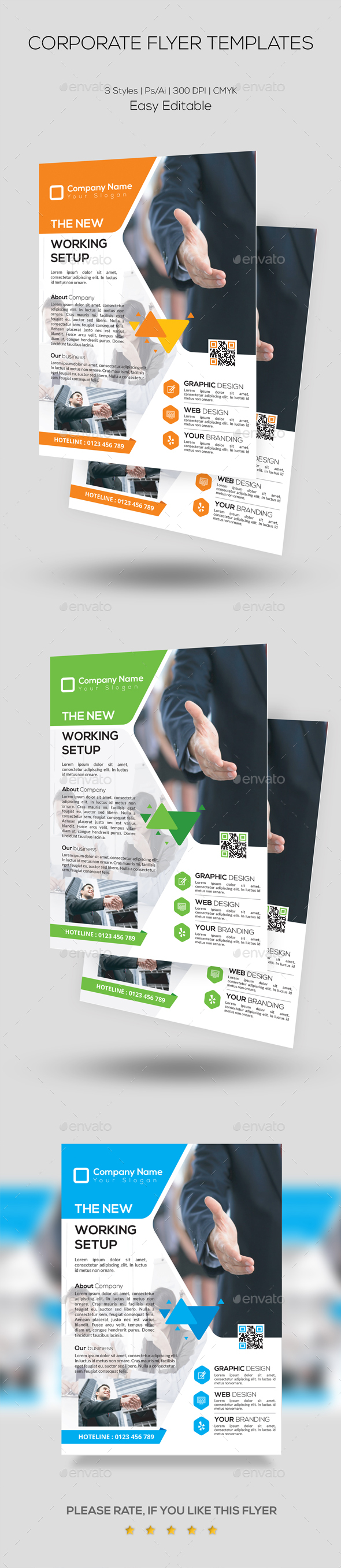GraphicRiver Corporate Flyer Template 20439934