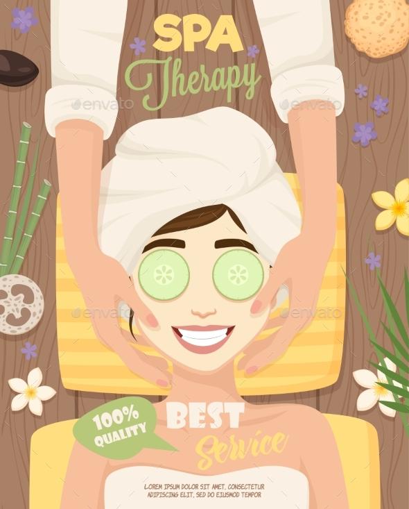 Spa Skincare Routine Poster - Health/Medicine Conceptual
