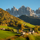 Dolomites village Funes in an autumn landscape - PhotoDune Item for Sale