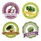 Vegetables Label Set
