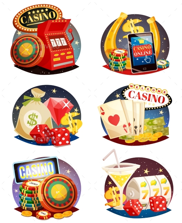 GraphicRiver Casino Decorative Compositions Set 20440046