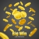 Big Win Gold Coins Advertisement Background Poster