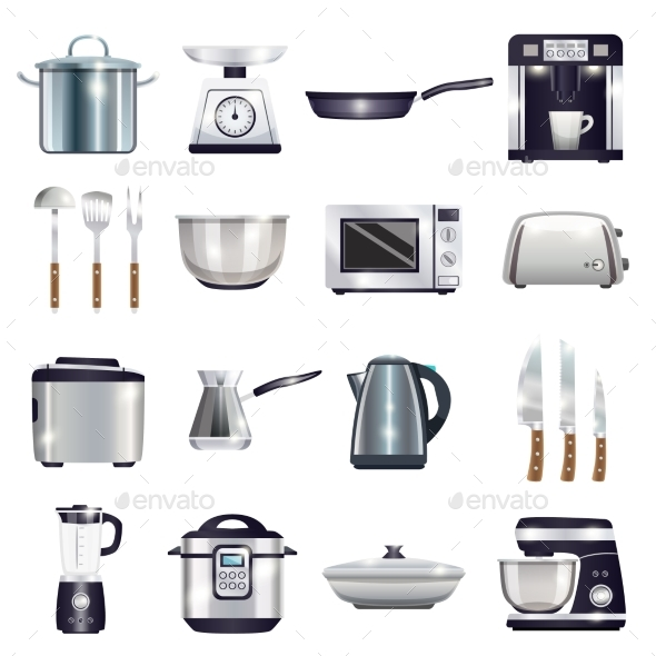 Kitchen Accessories Set - Man-made Objects Objects