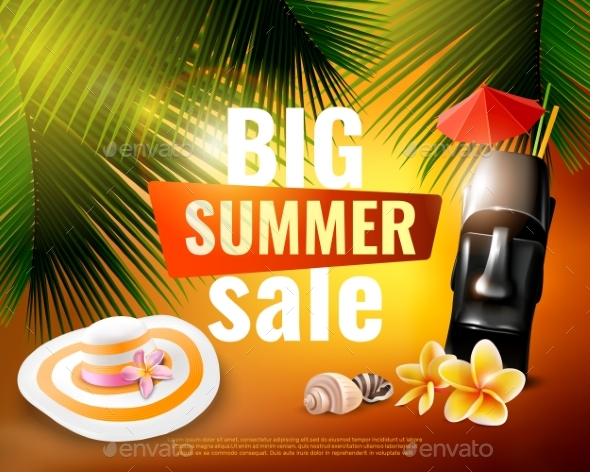 Hawaiian Summer Sale Poster - Miscellaneous Vectors