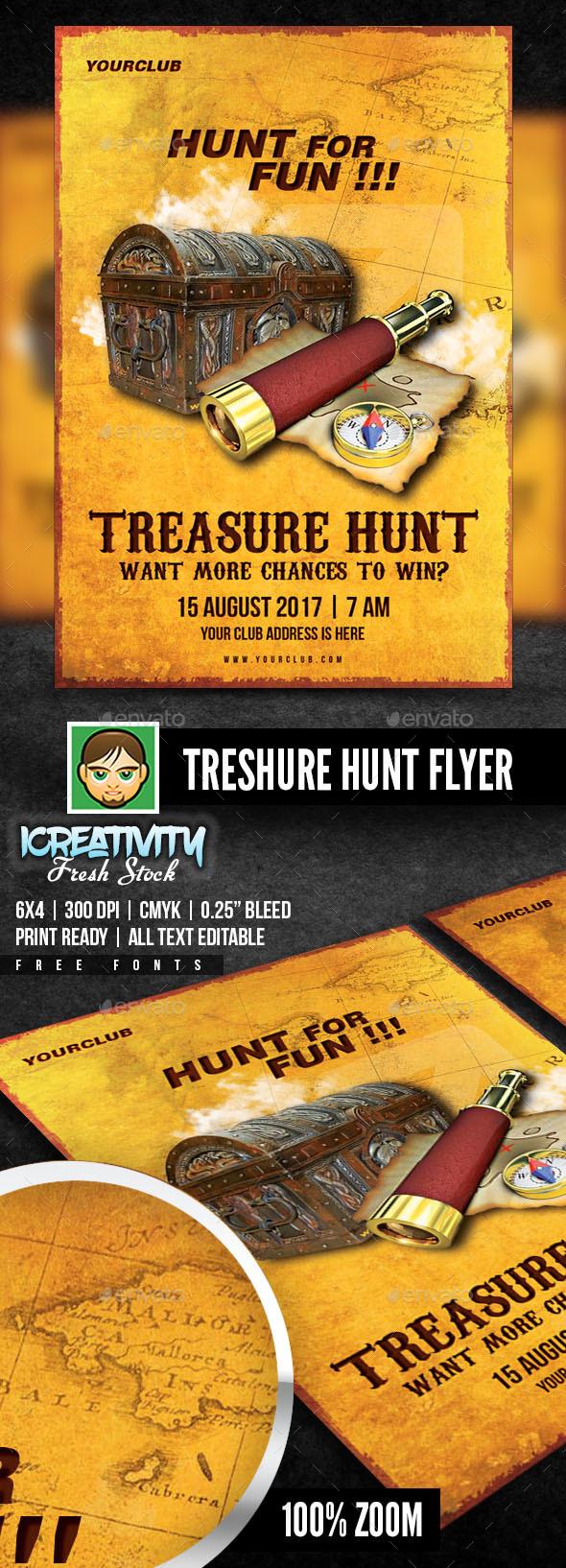 Treasure Hunt - Flyers Print Templates