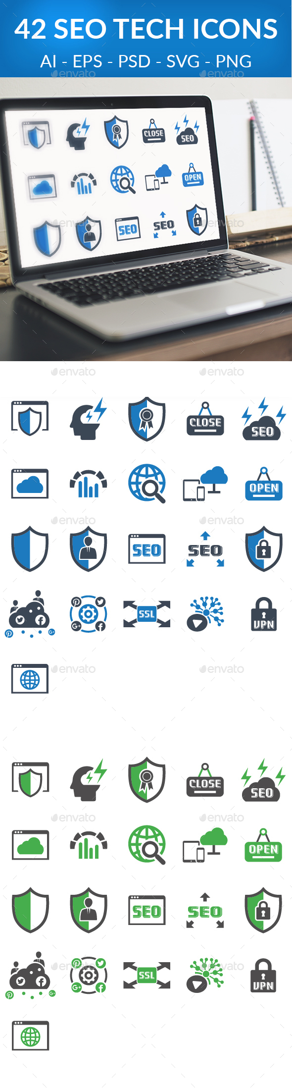 42 Seo Tech - Business Icons