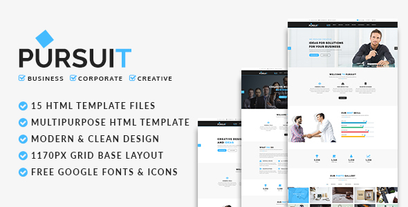 Pursuit - Business, Corporate, Creative HTML Template