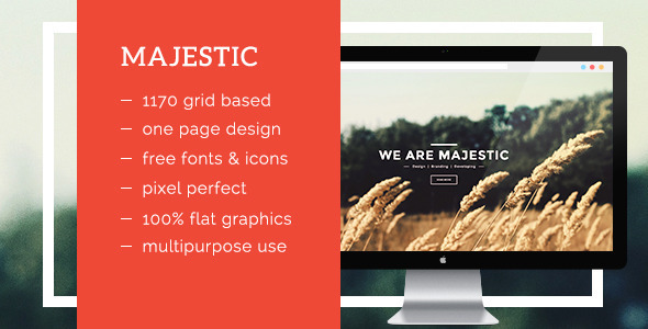 Majestic - Agency, Business, Landing Page, Creative  Portfolio Template