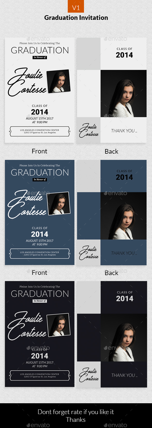 Graduation Invitation v1 - Invitations Cards & Invites