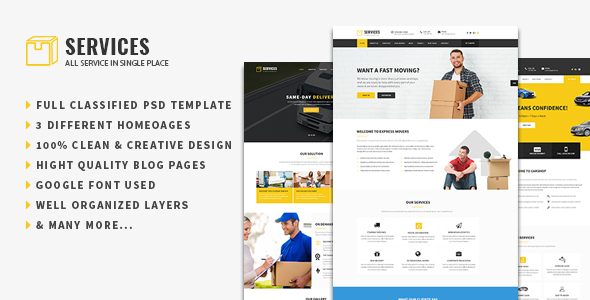 Services - Multipurpose PSD Template for Business Services