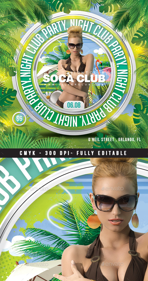 Squared Summer Party Flyer - Clubs & Parties Events