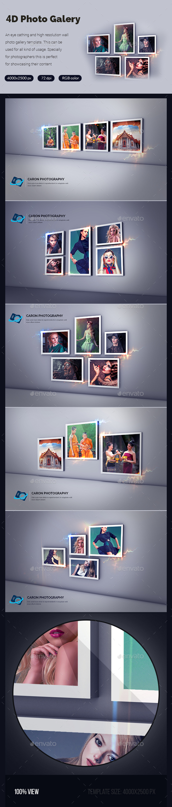 GraphicRiver 4D Photo Gallery Template 20424516