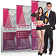 Multi-Purpose Corporate Roll up Banner Design in 3 Standard Sizes - GraphicRiver Item for Sale