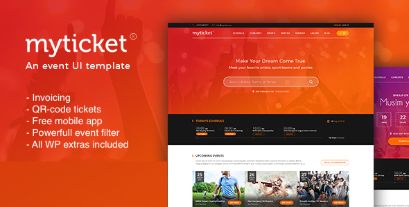 MyTicket - Ticket/Event Management System WordPress Theme