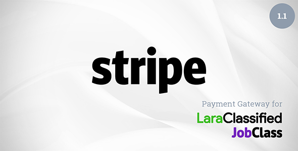 Stripe Payment Gateway Plugin for LaraClassified and JobClass - CodeCanyon Item for Sale