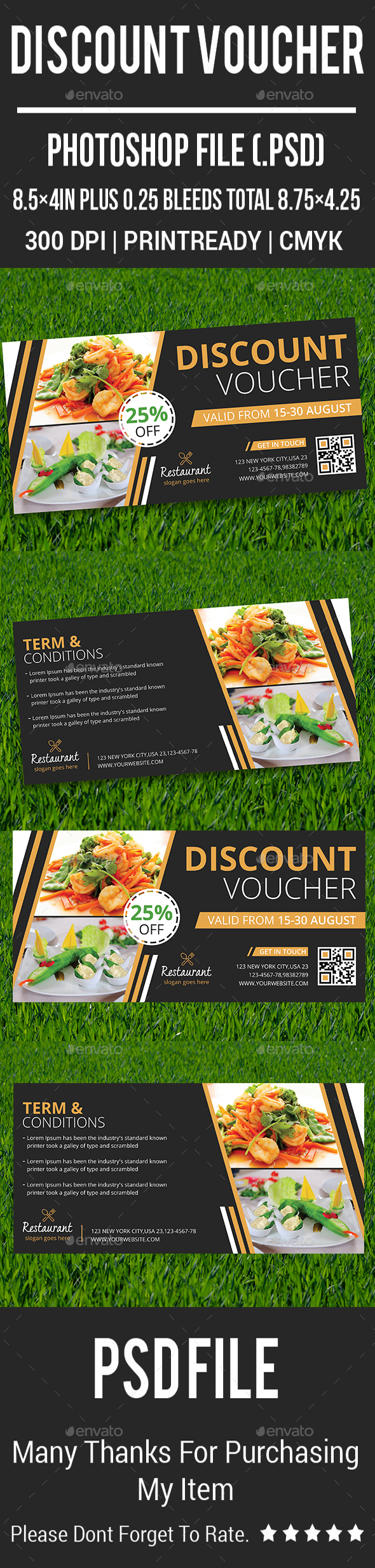 Discount Voucher - Cards & Invites Print Templates
