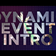 Dynamic Event Intro - VideoHive Item for Sale