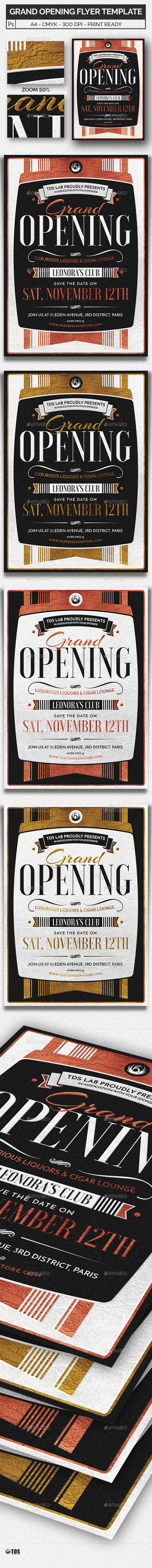 Grand Opening Flyer Template by lou606 – Grand Opening Flyer Template