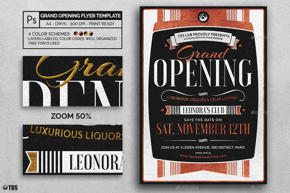 grand opening flyer template by lou606 graphicriver. Black Bedroom Furniture Sets. Home Design Ideas