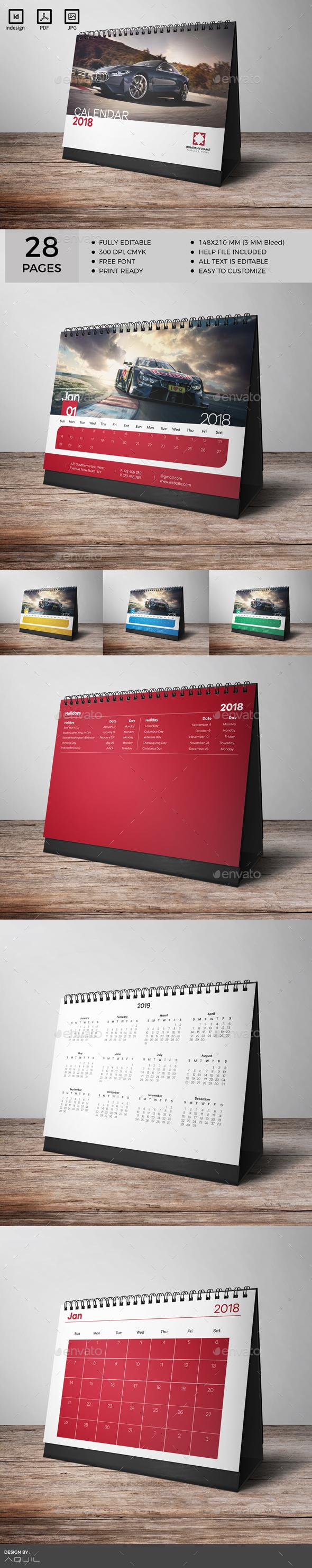 GraphicRiver Desk Calendar 2018 20438466