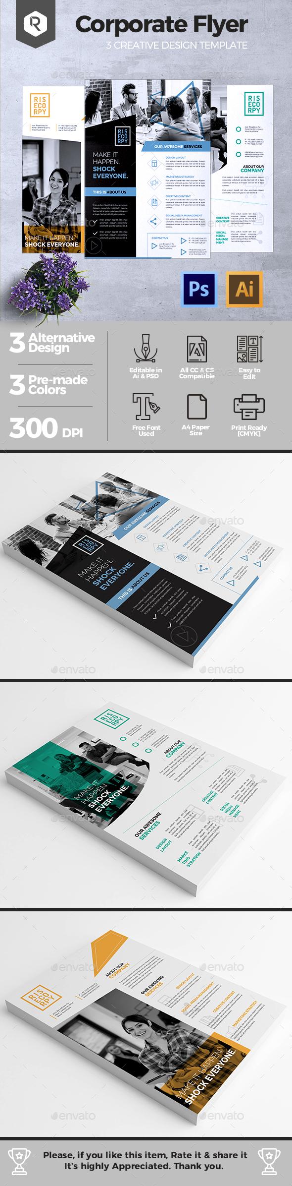 Creative Corporate Flyer Vol. 03 - Corporate Brochures
