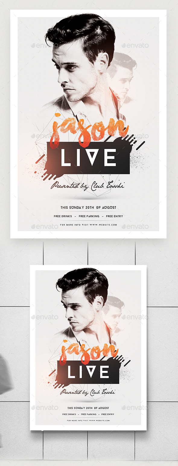 GraphicRiver Minimal Artist Performance Flyer Poster 20441518