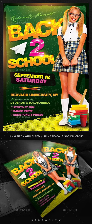 Back 2 School Flyer - Clubs & Parties Events