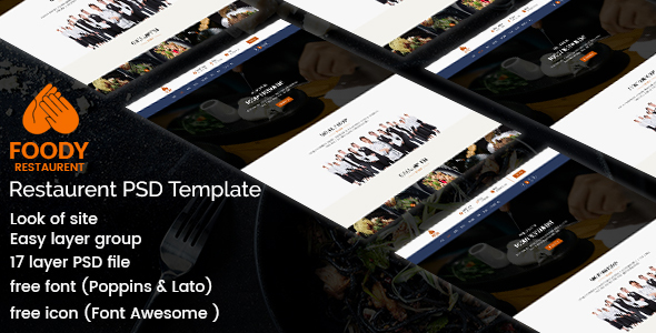 Foody - Restaurant PSD Template